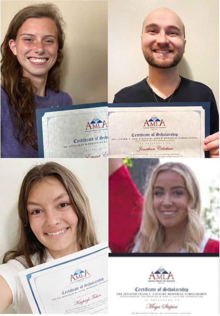 AMLA Scholarship Recipients for 2021
