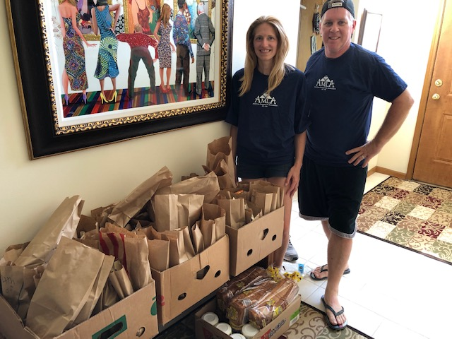 In June, AMLA Lodge 45 prepared and donated 110 pairs of socks and underwear to Project Hope and then prepared 50 lunches in July. In August, Members prepared and donated clothing for kids at the Providence House